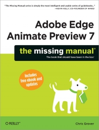 Adobe Edge Animate Preview 7: The Missing Manual | O'Reilly Media